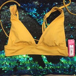 NWT bikini halter - mustard yellow / marigold